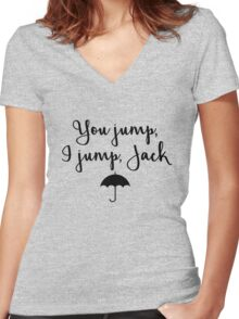 Gilmore Girls - You Jump, I jump, Jack Women's Fitted V-Neck T-Shirt