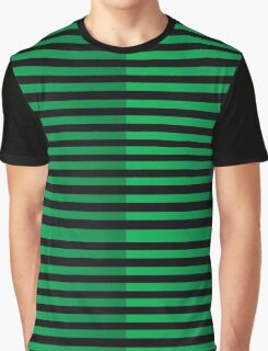 Background of black and green lines Graphic T-Shirt