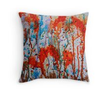 Over the River Thru the Woods Throw Pillow