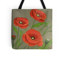 Poppies-3 Tote Bag