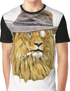 Funny Lion Graphic T-Shirt