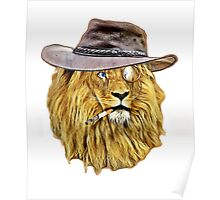 Funny Lion Poster