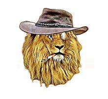 Funny Lion Photographic Print