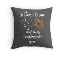 """""""You were the sun"""" Baz - Carry On Quote  Throw Pillow"""