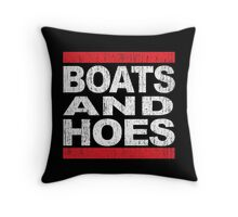 Boats and Hoes - Hip Hop Style Throw Pillow