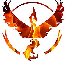 Pokemon Team Valor Flame Logo Photographic Print