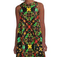 Vibrant Colors Refined Ornament A-Line Dress