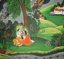 Radha Krishna  by Nandika-Dutt
