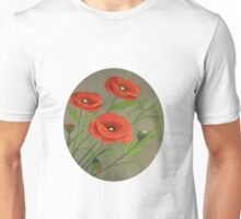 Poppies-3 Unisex T-Shirt