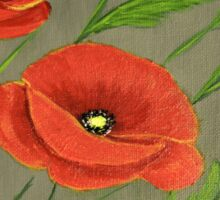 Poppies-3 Sticker