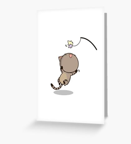 Cat is playing Greeting Card