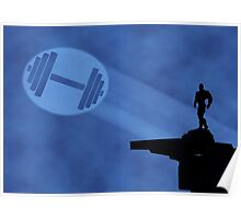 Bodybuilder Light Signal Poster