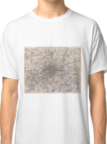 Vintage Map of London England (1900) 2 Classic T-Shirt
