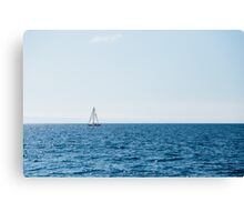 The Lonely Sail Boat Canvas Print