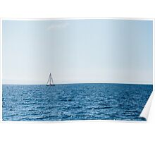 The Lonely Sail Boat Poster