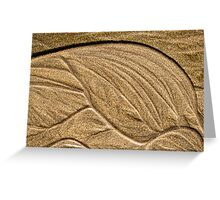 Tide-sculpted sand Greeting Card