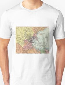 Vintage Map of Boston Massachusetts (1903)  Unisex T-Shirt