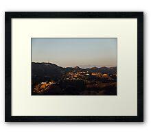 Hollywood at Sunset Framed Print