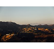 Hollywood at Sunset Photographic Print