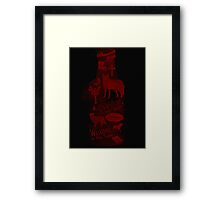 The Blood of Truth Framed Print