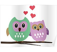 Owl couple Poster