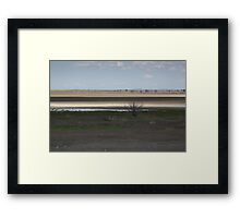 Lake Cooper, Victoria, in drought. Framed Print