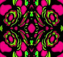 Psychedelic Retro Ornament Sticker