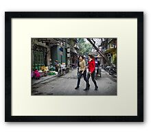 Vietnam: Striding Out Framed Print