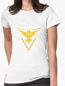 Pokemon Team Instinct Cloud Yellow Womens Fitted T-Shirt