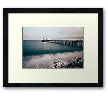 Colored Malibu Framed Print