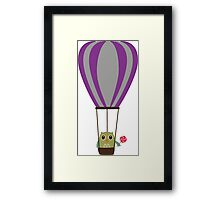 Owl in hot-air balloon with a lollipop Framed Print