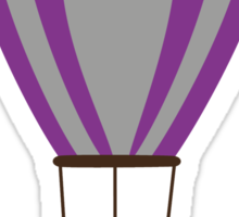 Owl in hot-air balloon with a lollipop Sticker