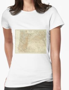 Vintage Map of Oregon (1911) Womens Fitted T-Shirt
