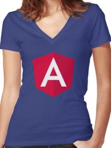 Angular 2 Women's Fitted V-Neck T-Shirt