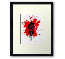 Skeleton Splatter Framed Print