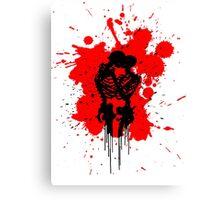 Skeleton Splatter Canvas Print