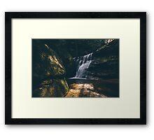Hidden Falls - Hocking Hills  Framed Print