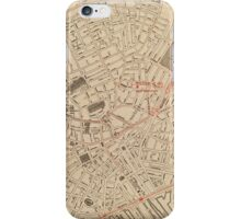 Vintage Map of Downtown Boston MA (1911) iPhone Case/Skin
