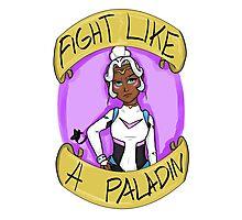 Fight Like A Paladin: Allura Photographic Print