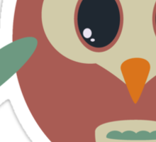 Coloured owl with a flower Sticker