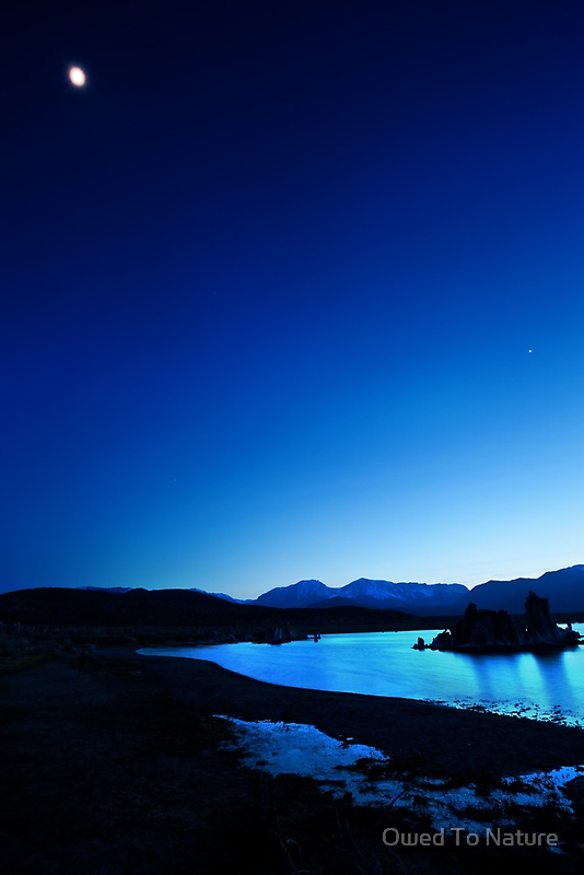 Blue moon over Mono Lake by Owed to Nature