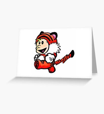 Super Calvin and Hobbes Greeting Card