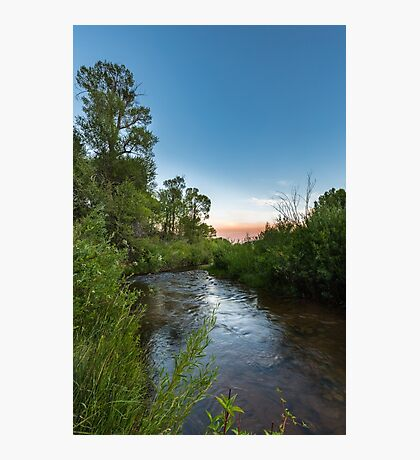 Currant Creek after dusk Photographic Print