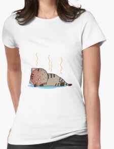 Hot cat Womens Fitted T-Shirt
