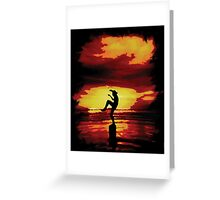 The Crane Kick Karate Kid Greeting Card