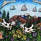Running Cows by Monica Engeler