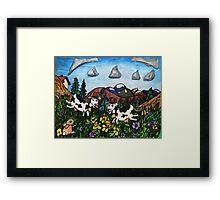 Running Cows Framed Print
