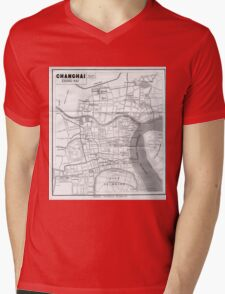 Vintage Map of Shanghai China (1912) Mens V-Neck T-Shirt