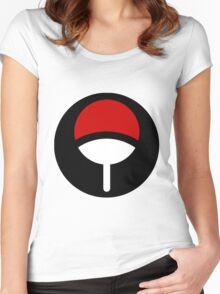 Logo Klan Uchiha Women's Fitted Scoop T-Shirt