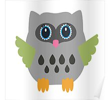 Gray owl  Poster